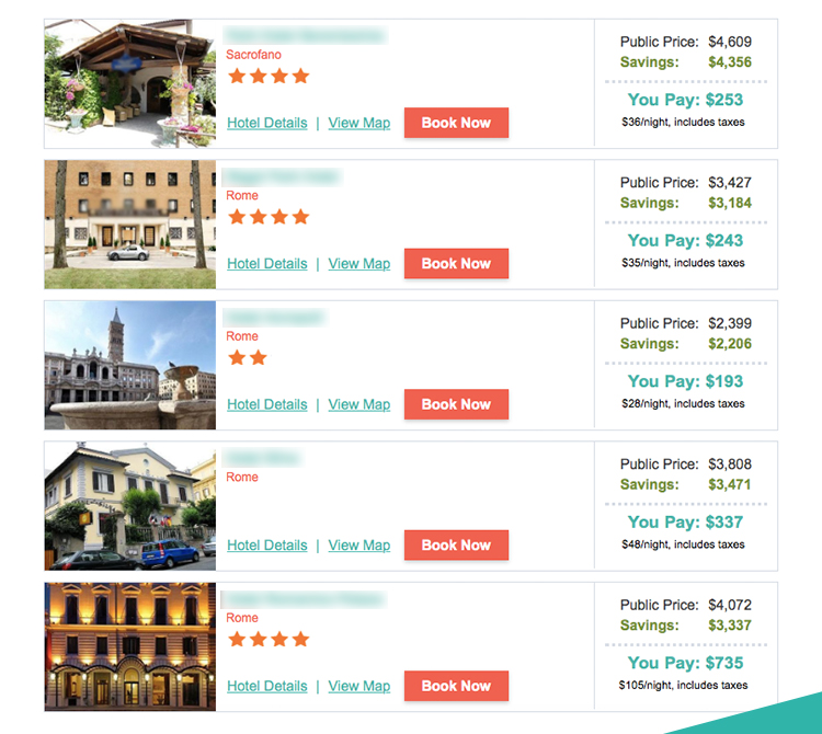 Save over $4,000 in ROME, ITALY!