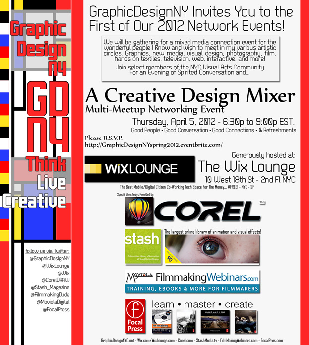 Flyer For GraphicDesignNY Creative/Design Event Spring 2012