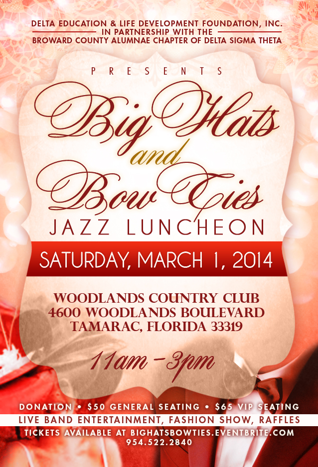 Big Hats & Bow Ties Event Flyer