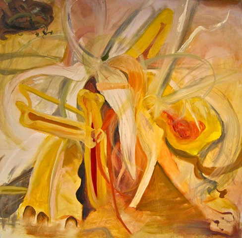 Amy Kelly, Disarray, oil on canvas, 60 x 60 inches