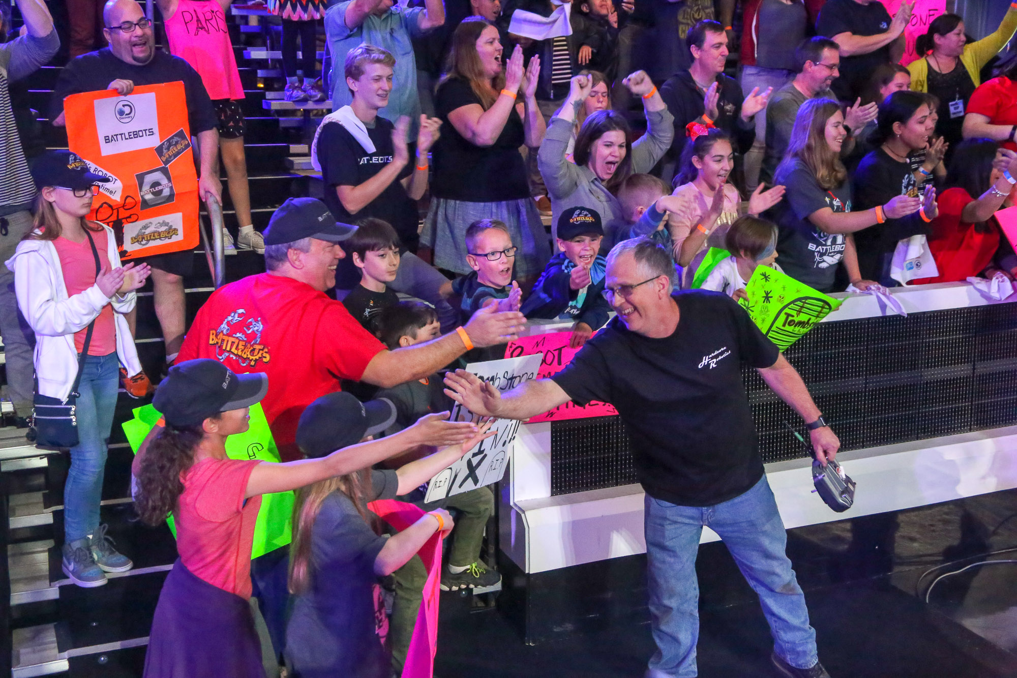 BattleBots Ray meets the crowd