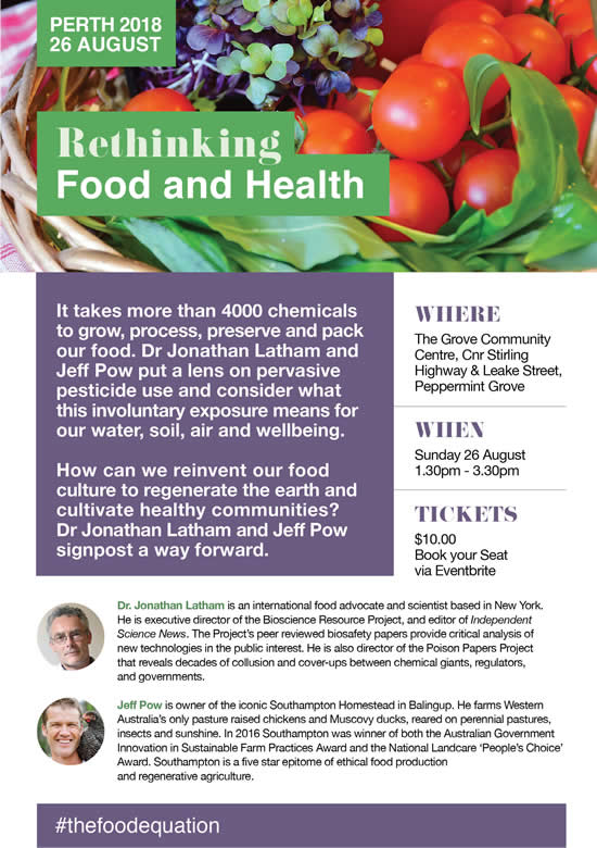 Renthinking Food and Health - Perth