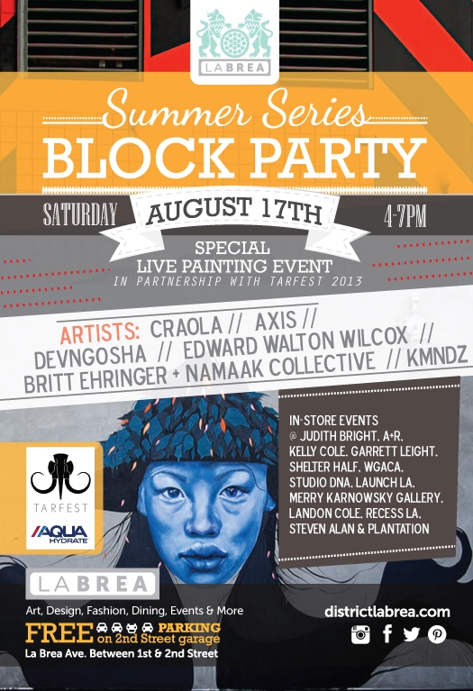 July 20th Summer Series Block Party