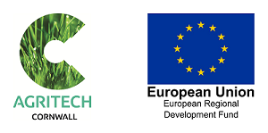 Agritech Cornwall and ERDF logos