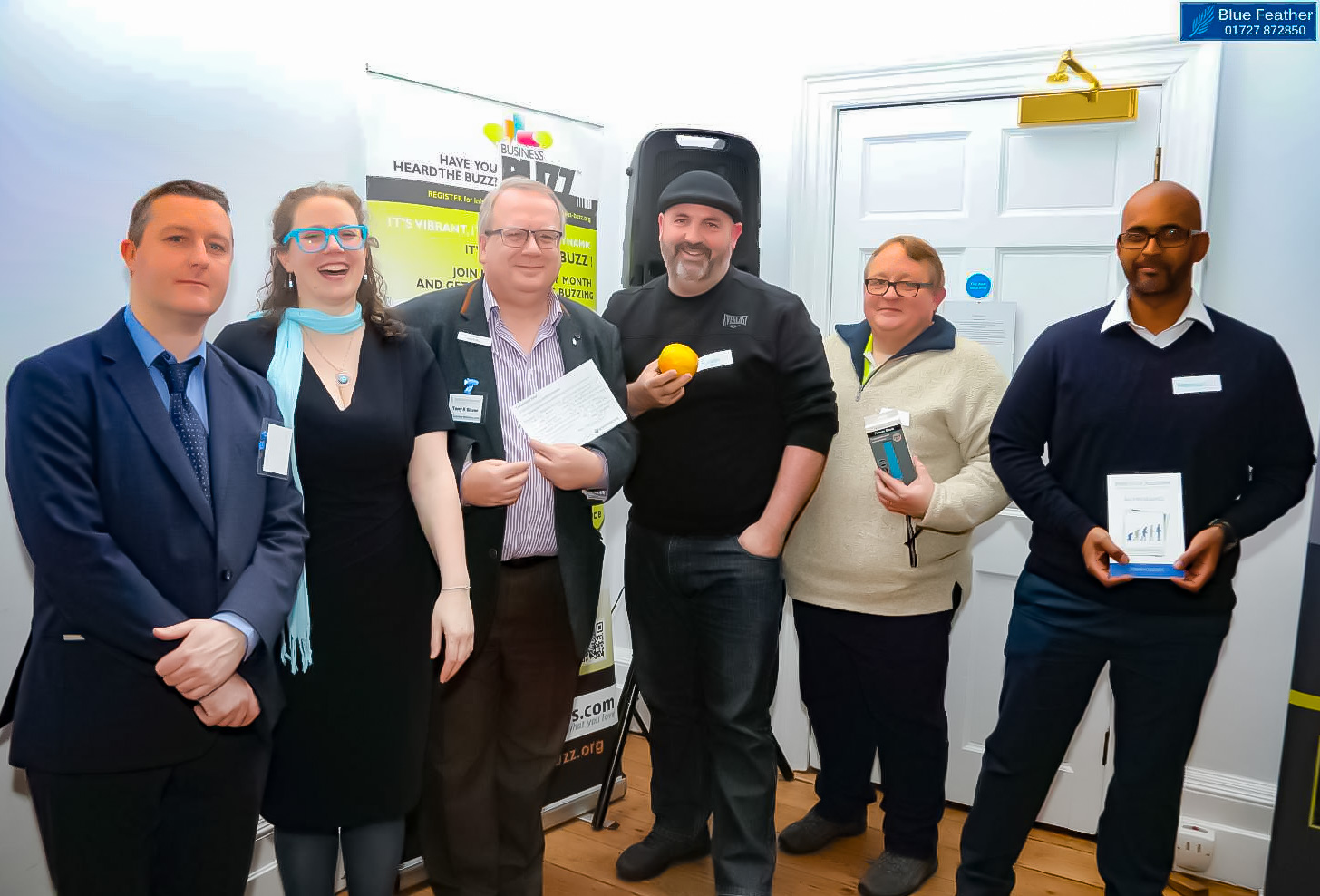 Prize winners at Business Success Matters event, St Albans