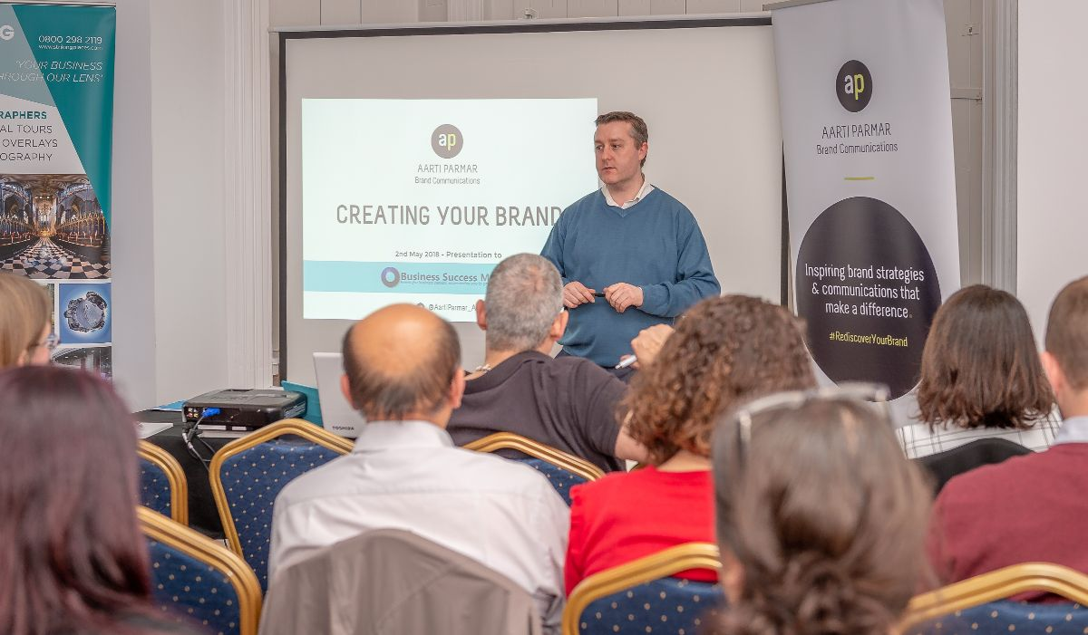 Lewis Bryan Compere at Business Success Matters Event, St Albans, Herts