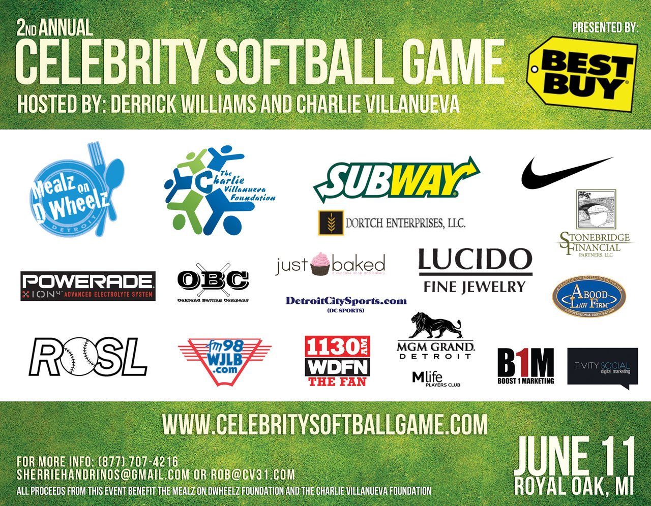 2nd Annual Celebrity Softball Game Sponsors 2011
