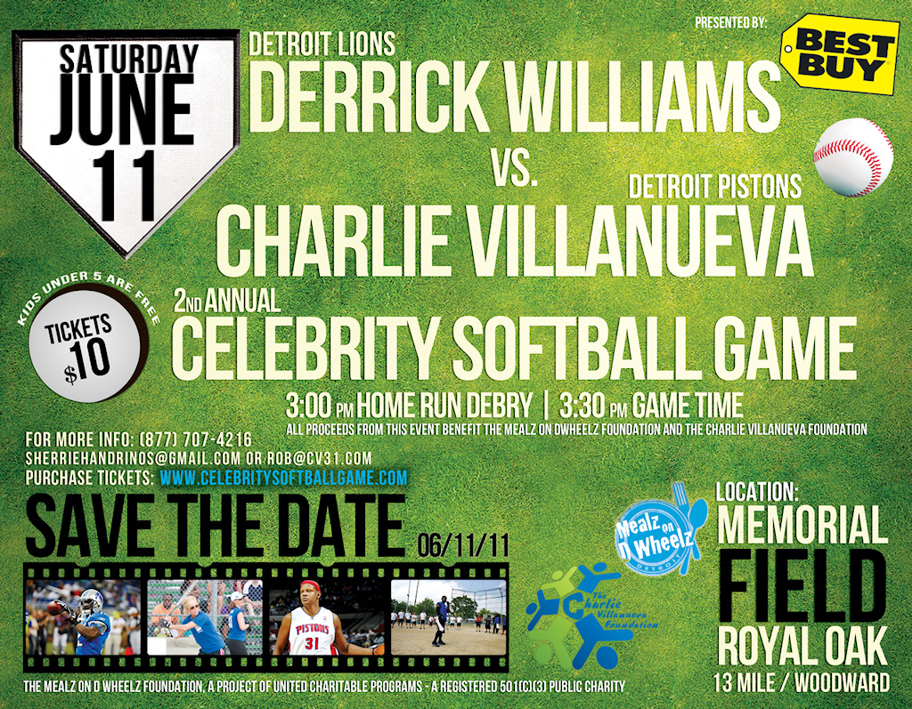 2nd Annual Celebrity Softball Game Detroit