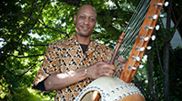 Keenan Webster with 21-string Kora