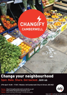 Changify Camberwell Saturday 27th April poster