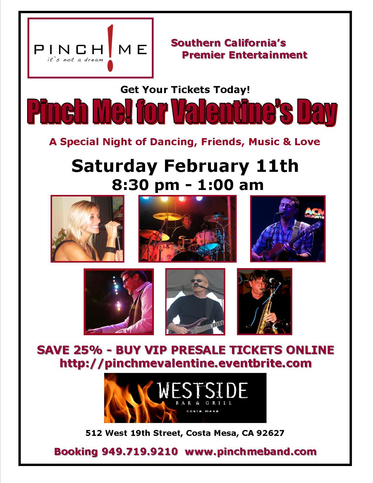 Pinch Me Valentine's Day Westside 2-11-12