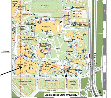 Map of SF State campus