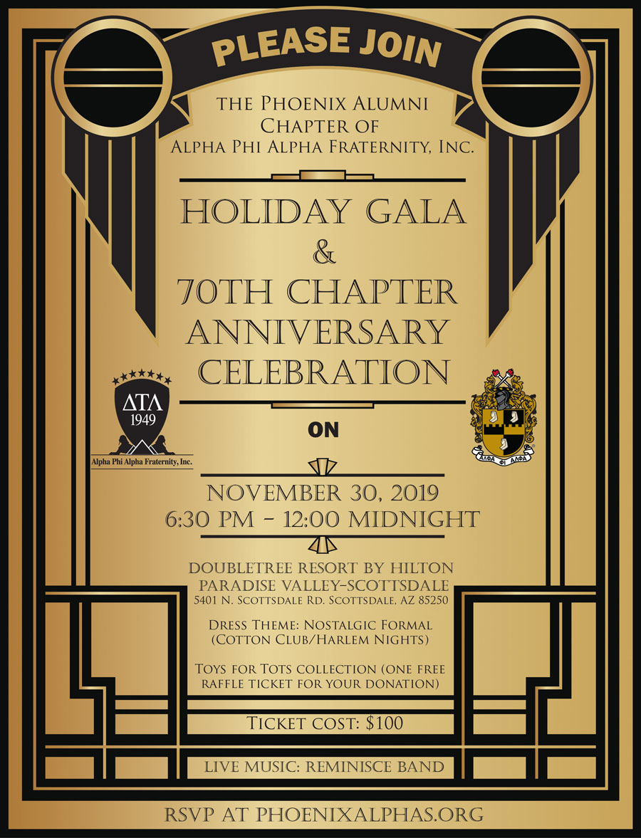 Alpha Holiday Gala and DTL Chapter Anniversary