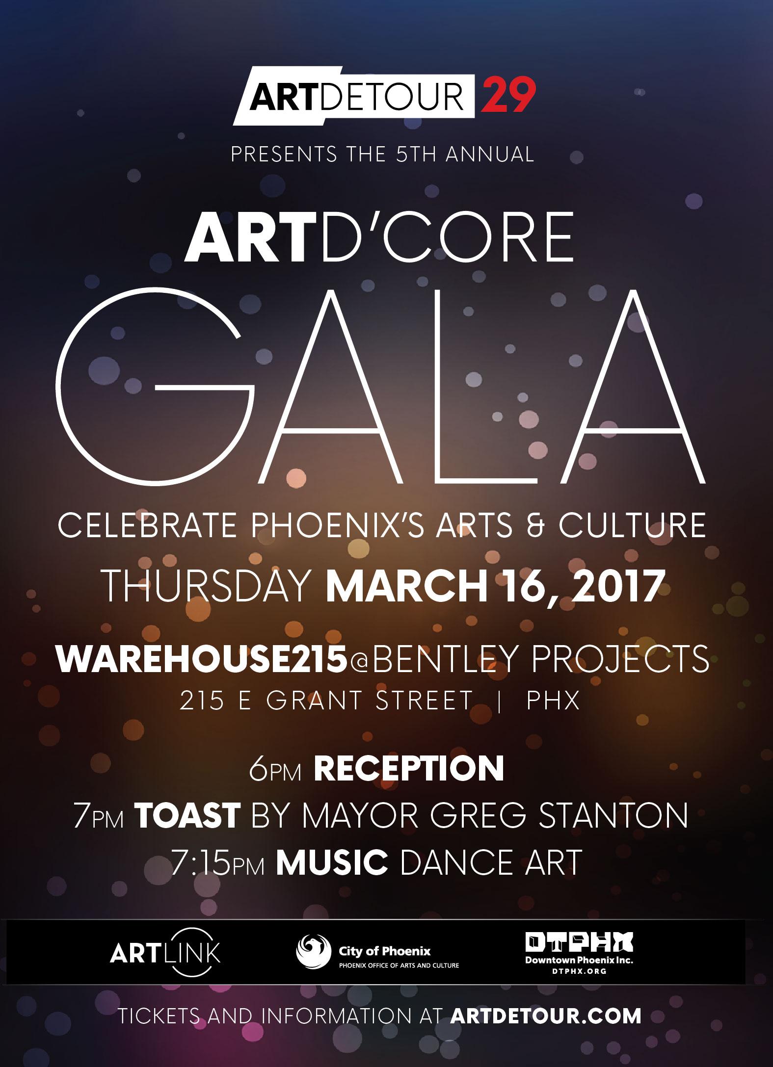 Art d'Core Gala Invitation