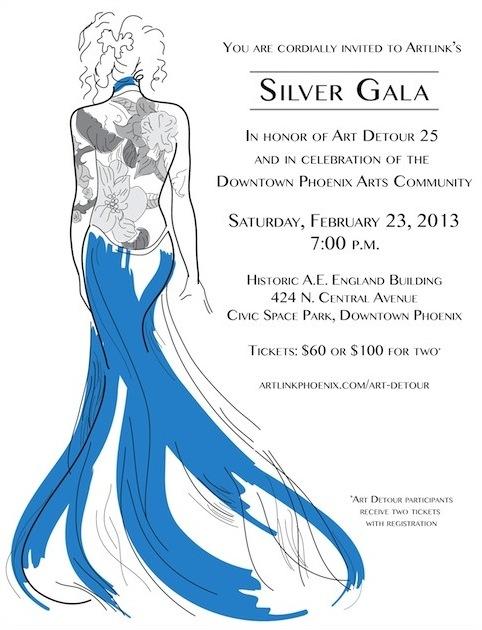 Silver Gala Invitation