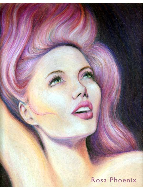 colored pencil drawing by Rosa Phoenix