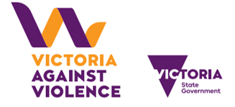Logos of Victorian Government and Victoria Against Violence