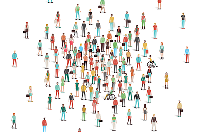 Diverse crowd - iStockphoto