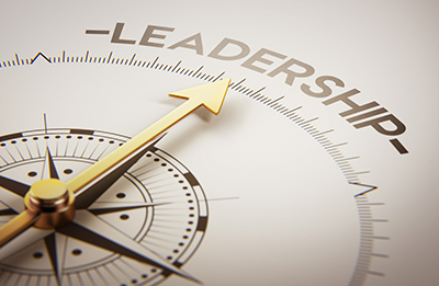 Compass pointing at Leadership - iStockphoto