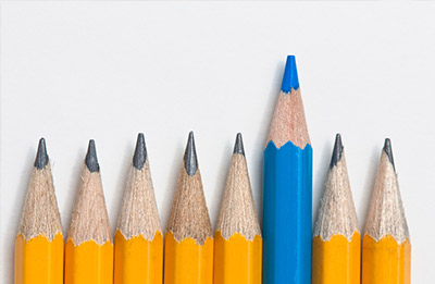 One pencil stands out (iStockphoto)