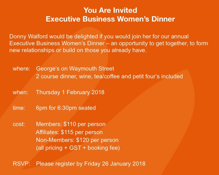 Executive Dinner 2018
