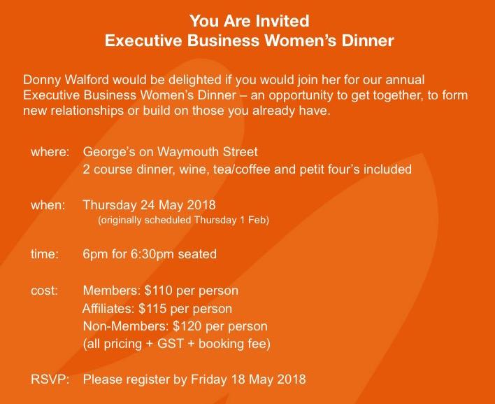 Executive women's dinner