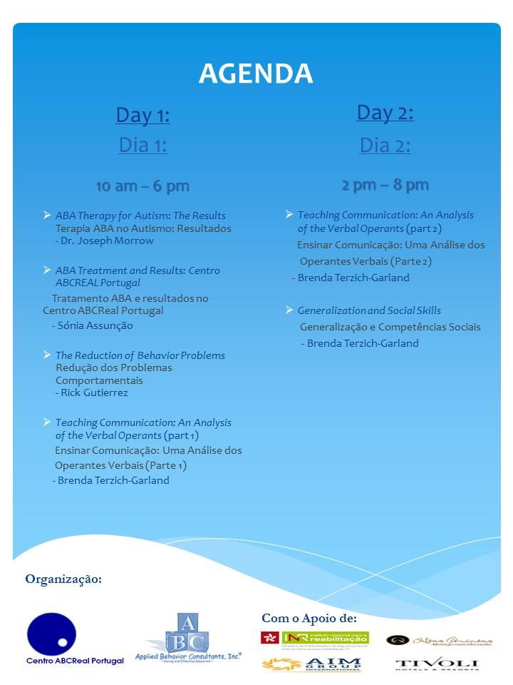 Agenda aba workshop