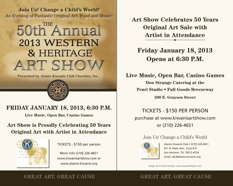 2013 Western & Heritage Art Show Invite