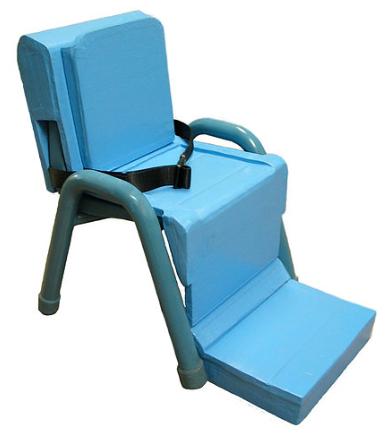 Adaptive insert over standard classroom chair