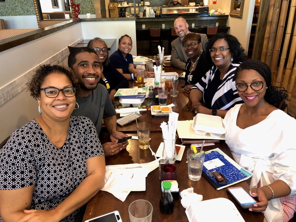 Focus and fellowship: Karen R. Jenkins shares tips with small businesses during the April 2019 event