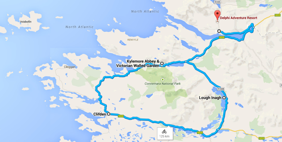 The Connemara Cycle - 125 Km route