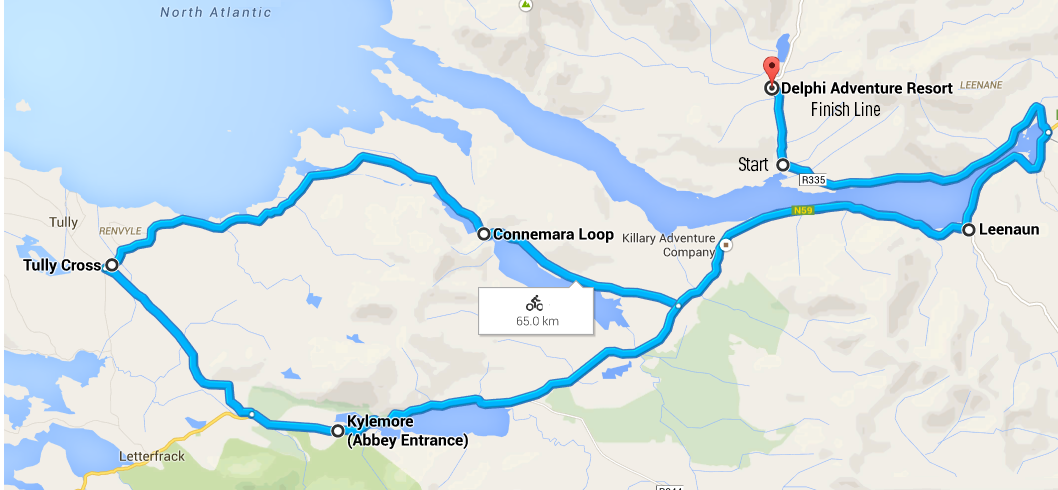 Connemara Cycle 65Km route