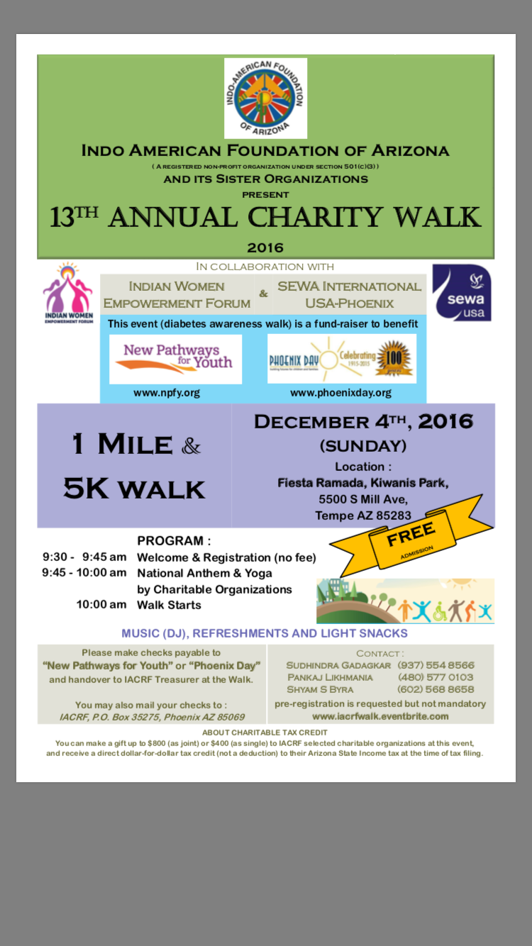 Charity Walk Flyer