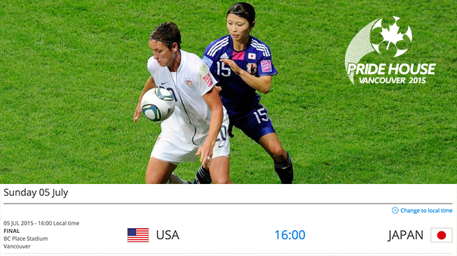 FIFA Women's World Cup Final USA vs JPN