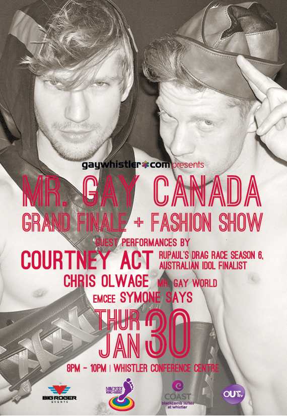 Mr. Gay Canada Grand Finale + Fashion Show with Courtney Act