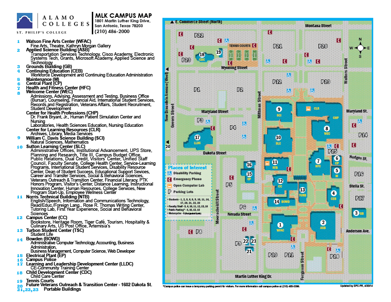Map of St. Philip's College