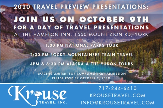 Events Around The Galleria On October 4 2020.2020 Alaska The Yukon Tour Presentation 4 00 Pm Tickets