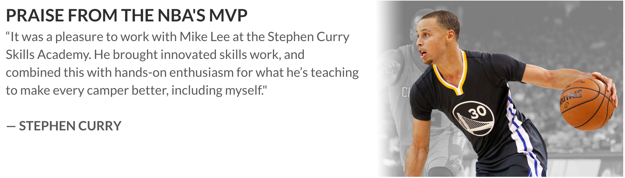 stephen curry mike lee testimonial