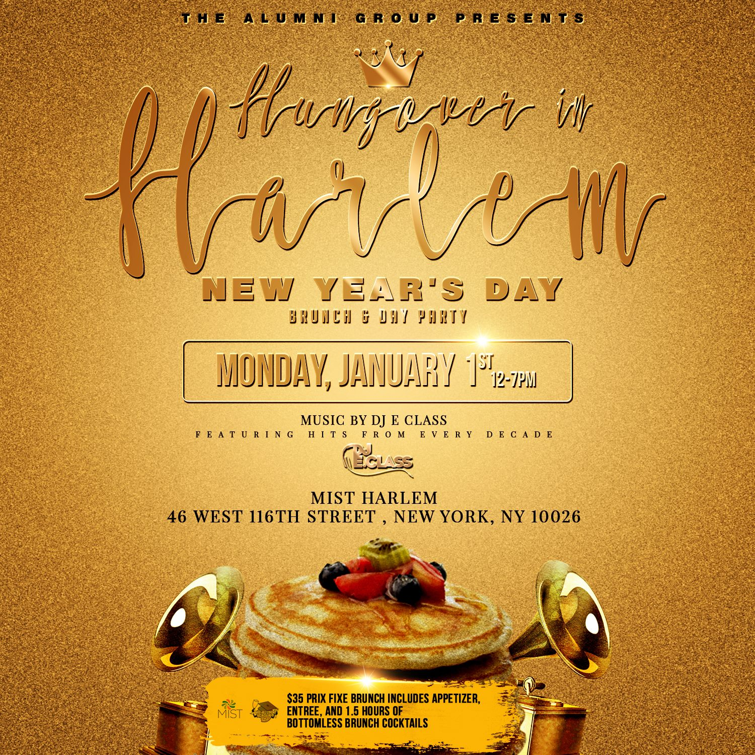 Hangover in harlem new years day brunch day party tickets mon birthdays and large parties are encouraged to arrive early 12 2pm monicamarmolfo Images