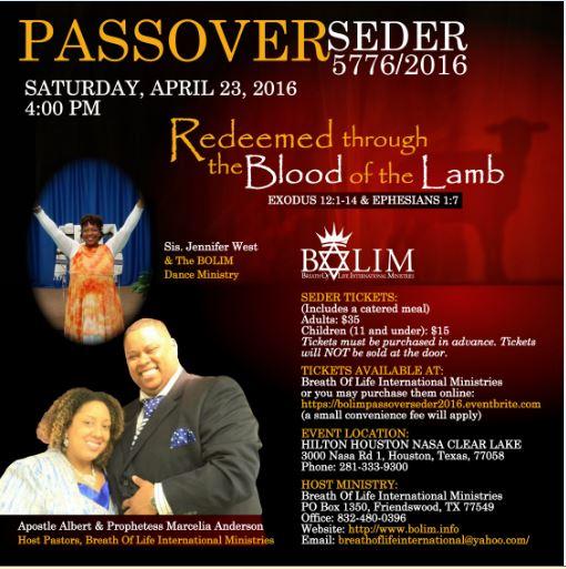 Passover 2016 dates