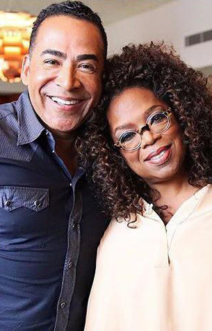 Tim Storey with Oprah Winfrey