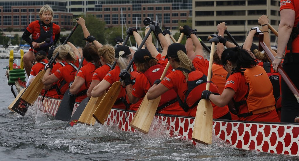 Ladies Dragon Boat coach Kate Zubick