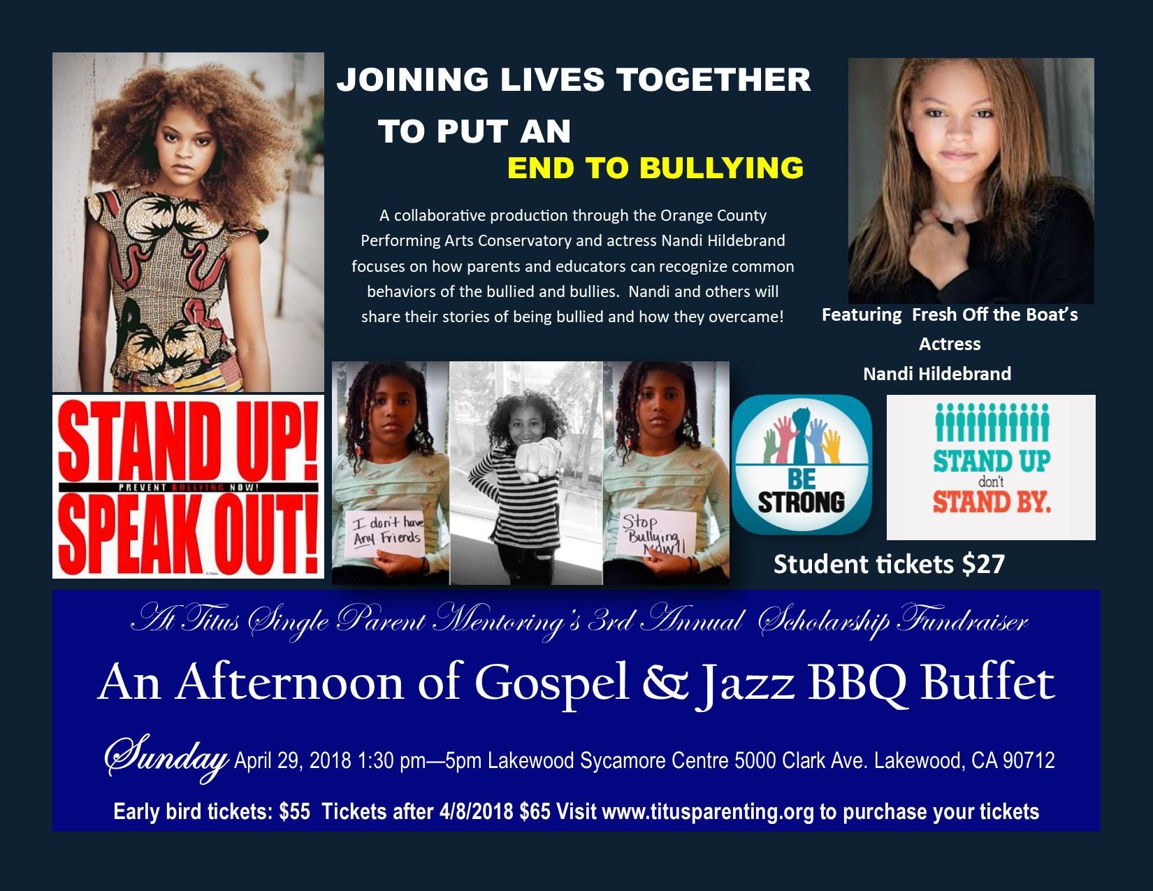 An Afternoon of Gospel & Jazz Titus Single Parent Mentoring 2018 Gala
