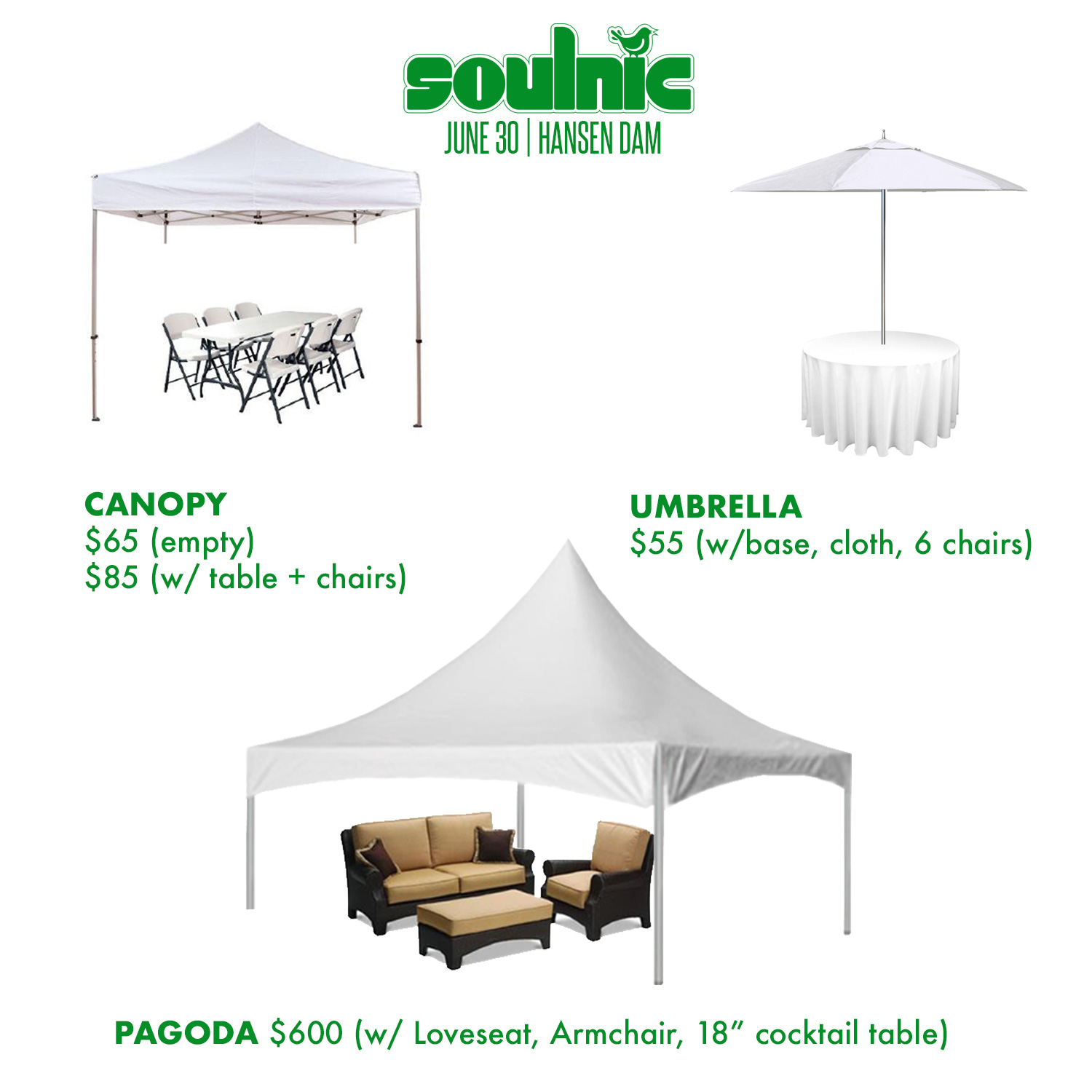 SOULNIC 2018 Canopies