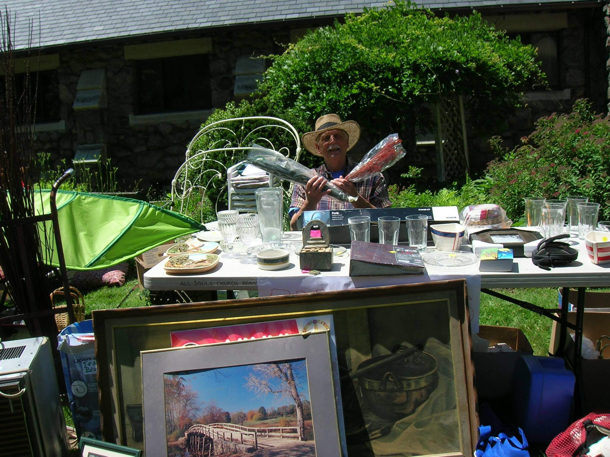 Selling at Community Yard Sale