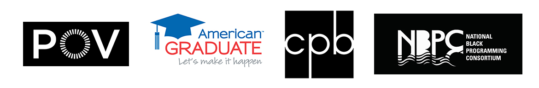 Logos for POV, American Graduate, CPB, NBPC