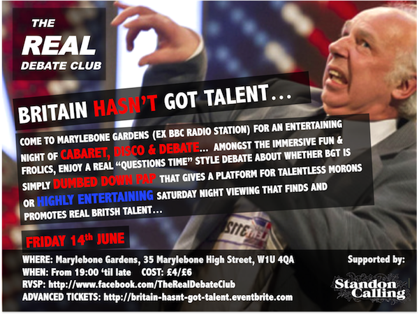 Britain Hasn't Got Talent Event Flyer
