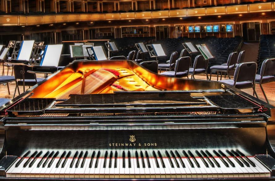 Severance Hall and piano