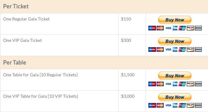 Buy Gala Tickets