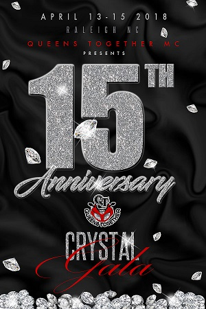 Join us in celebrating 15 years of unity in the Motorcycle community, fellowship and charity at our CRYSTAL GALA. It will be one you don't want to miss! April 13-15th, 2018!! Raleigh, NC.
